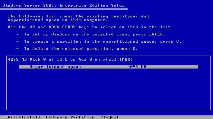 Windows Server 2003 Format Hard Drive